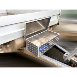 Aluminium Deichselbox klein offen