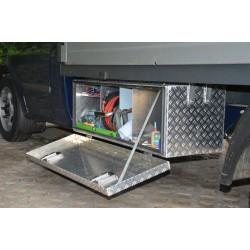 Seitenbox Aluminiumkiste mit Werkzeug